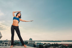 Yoga woman stretching Royalty Free Stock Images