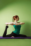 Yoga woman at training Royalty Free Stock Images