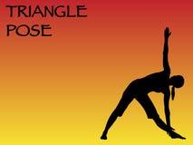 Yoga Woman Triangle Pose Stock Photography
