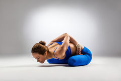 The yoga woman Royalty Free Stock Photos
