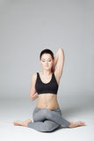 The yoga woman Royalty Free Stock Photography