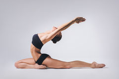 The yoga woman Stock Image