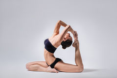 The yoga woman Royalty Free Stock Photos