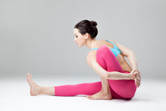 The yoga woman Stock Photography