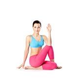 The yoga woman Royalty Free Stock Image