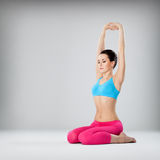The yoga woman royalty free stock photo