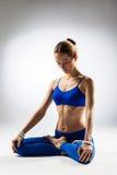 The yoga woman Stock Photo