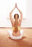 Yoga Woman. Young Lady Practicing Morning Meditation Stock Image