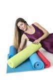 Yoga woman Royalty Free Stock Photos