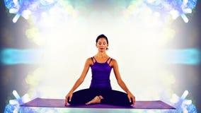 Yoga woman stock video