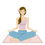 Yoga women Stock Images