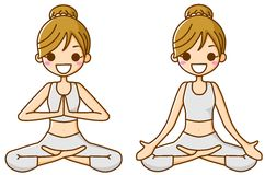 Yoga for women. This is an illustration of a woman doing yoga Royalty Free Stock Photography