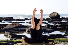 Yoga women Royalty Free Stock Photo