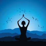 Yoga women figure. Stock vector Stock Photos