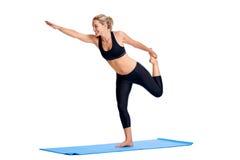 Yoga women isolated Royalty Free Stock Image