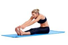 Yoga women isolated Stock Photo
