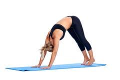 Yoga women isolated Stock Images