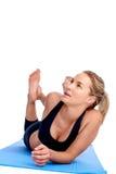 Yoga women isolated Royalty Free Stock Photo