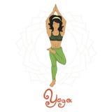 Yoga. Women's Yoga Ardha baddha padmottanasana (Hatha yoga Royalty Free Stock Photo