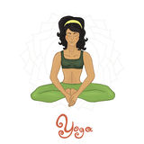 Yoga. Women's Yoga Baddha Konasana (Hatha yoga Stock Photos