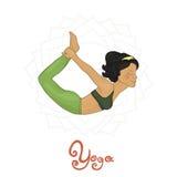 Yoga. Women's Yoga Dhanurasana (Hatha yoga Royalty Free Stock Photography