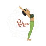 Yoga. Women's Yoga Hasta uttanasana (Hatha yoga Stock Images
