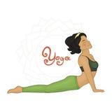 Yoga. Women's Yoga Urdhva mukha shvanasana (Hatha yoga Royalty Free Stock Photos