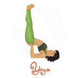 Yoga. Women's Yoga Viparita Karani (Hatha yoga Stock Photos