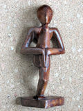Yoga Wooden Statue Royalty Free Stock Image