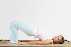 Yoga workout Stock Image