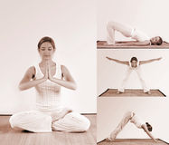 Yoga workout Stock Images