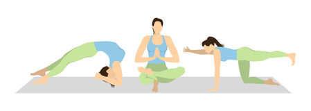 Yoga workout set. royalty free illustration