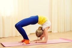 Yoga workout Stock Photos
