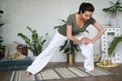 Yoga workout stock photo