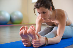 Yoga workout stock photography