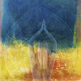Yoga-Wutanfälle Lizenzfreie Stockfotos