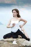 Yoga y aptitud. Foto de archivo libre de regalías