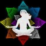 Yoga y chakras Foto de archivo libre de regalías