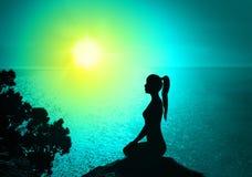 Yoga y meditación Imagen de archivo libre de regalías
