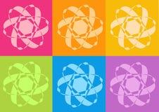 Yoga yantras Blumen stock abbildung