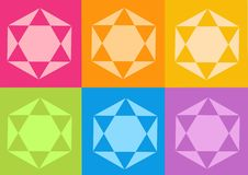 Yoga yantras flowers. Computer generated clipart Royalty Free Stock Photography