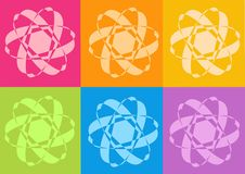 Yoga yantras flowers. Computer generated clipart Royalty Free Stock Photos
