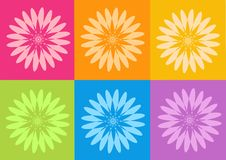 Yoga yantras flowers Royalty Free Stock Images