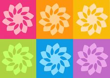 Yoga yantras flowers. Computer generated clipart royalty free illustration