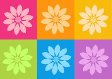 Yoga yantras flowers. Computer generated clipart Stock Photography