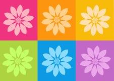 Yoga yantras flowers vector illustration