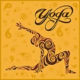 Yoga yellow background Royalty Free Stock Photos