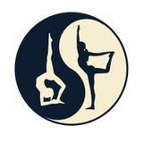 Yoga ying yang Royalty Free Stock Image
