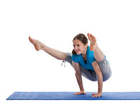 Yoga - young beautiful woman doing excerise Stock Photography