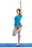 Yoga - young beautiful woman doing yoga asana excerise isolated Stock Photography
